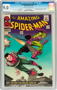 The Amazing Spider-Man #39 (Marvel, 1966) CGC VF/NM 9.0 Off-white to white pages