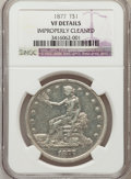 Trade Dollars, 1877 T$1 -- Improperly Cleaned -- NGC Details. VF. NGC Census:(7/413). PCGS Population (7/527). Mintage: 3,039,710. Numism...