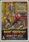 """Movie Posters:Western, Gold and Grit (Weiss Brothers Artclass Pictures, 1925). One Sheet(28"""" X 41""""). Western.. ..."""