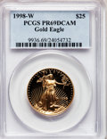 Modern Bullion Coins: , 1998-W G$25 Half-Ounce Gold Eagle PR69 Deep Cameo PCGS. PCGSPopulation (1054/71). NGC Census: (824/408). Numismedia Wsl. ...