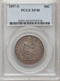 Seated Half Dollars: , 1857-S 50C XF40 PCGS. PCGS Population (14/30). NGC Census: (0/25).Mintage: 158,000. Numismedia Wsl. Price for problem free...