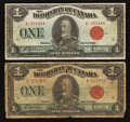 Canadian Currency: , DC-25b $1 1923 Two Examples. ... (Total: 2 notes)