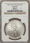Modern Issues, 2006-P $1 Ben Franklin, Scientist MS69 NGC. NGC Census:(2187/5374). PCGS Population (2517/444). Numismedia Wsl. Pricefor...