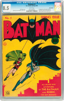 Featured item image of Batman #1 Billy Wright pedigree (DC, 1940) CGC VF+ 8.5 White pages....