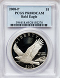 Modern Issues, 2008-P $1 Bald Eagle PR69 Deep Cameo PCGS. PCGS Population(3946/321). NGC Census: (9300/3829). Numismedia Wsl. Price for ...