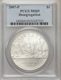 Modern Issues, 2007-P $1 Little Rock MS69 PCGS. PCGS Population (1267/473). NGCCensus: (786/1755). Numismedia Wsl. Price for problem fre...