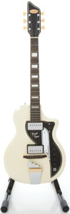 Musical Instruments:Electric Guitars, 1959 Supro Dual Tone White Solid Body Electric Guitar, Serial#T6861....