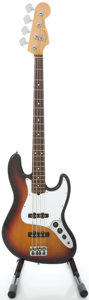 Musical Instruments:Bass Guitars, 1999 Fender Jazz Bass Sunburst Electric Bass Guitar, Serial #N9403665....