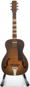 Musical Instruments:Acoustic Guitars, 1950's Silvertone Parlor Sunburst Acoustic Guitar....