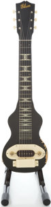 Musical Instruments:Lap Steel Guitars, Circa 1946 Gibson BR-6 Black Lap Steel Guitar....