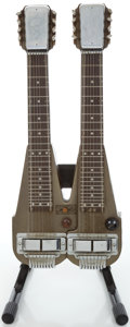 Musical Instruments:Lap Steel Guitars, Circa late 1940's Rickenbacker DC-16 Gray Lap Steel Guitar....