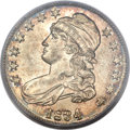 Bust Half Dollars, 1834 50C Large Date, Small Letters MS65 PCGS. O-106, R.1....