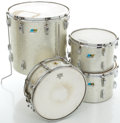 Musical Instruments:Drums & Percussion, 1970's Ludwig Silver Sparkle Partial Drum Set.... (Total: 4 Items)