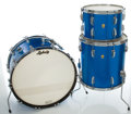 Musical Instruments:Drums & Percussion, 1966 Ludwig Keystone Blue Sparkle Drum Set, Serial #419212.... (Total: 3 Items)