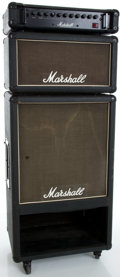 Musical Instruments:Amplifiers, PA, & Effects, Circa 1980's Marshall 200w Integrated Bass Guitar Amplifier, Serial #410, 4670....