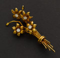Estate Jewelry:Brooches - Pins, Gold & Diamond Brooch. ...