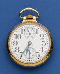 Timepieces:Pocket (post 1900), Elgin 21 Jewel Father Time Wind Indicator. ...
