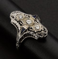 Estate Jewelry:Rings, Antique Filigree Diamond Ring. ...