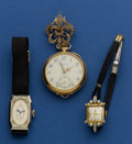 Timepieces:Other , Three Gold Watches. ... (Total: 3 Items)