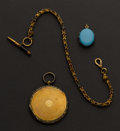 Estate Jewelry:Coin Jewelry and Suites, Victorian Collection, Two Lockets, One Chain & Key. ... (Total: 3 Items)