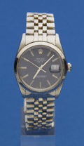 Timepieces:Wristwatch, Rolex Ref. 15000 Gent's Steel Oyster Perpetual Date, circa 1987. ...