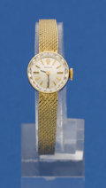 Timepieces:Wristwatch, Rolex Lady's Gold Bracelet Watch. ...