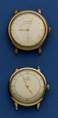 Timepieces:Wristwatch, Omega & LeCoultre Vintage Automatics. ... (Total: 2 Items)