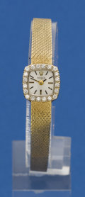 Timepieces:Wristwatch, Rolex Lady's Gold & Diamond Bracelet Watch For Repair. ...