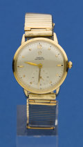 Timepieces:Wristwatch, Omega 14k Gold Automatic. ...