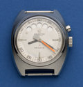 Timepieces:Wristwatch, Aquastar Steel Watch With Sailing Count Down Display. ...