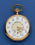 Timepieces:Pocket (post 1900), Longines 49 mm Rose Gold Pocket Watch. ...