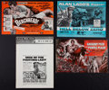 "Movie Posters:War, War Lot (Various, 1954-1955). Uncut Pressbooks (4) (Multiple Pages,11"" X 17"", 12"" X 16"", & 12.25"" X 17"", ). War.. ... (Total: 4Items)"