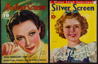 Modern Screen and Silver Screen Magazines (Dell Publishing, January, 1936 and May, 1939). Magazines (2) (Multiple Pages...