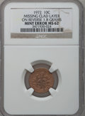 Errors, 1972 10C Roosevelt Missing Clad Layer on Reverse, MS62 NGC. 1.8Grams. NGC Census: (2/65). PCGS Population (3/337). Mintage...