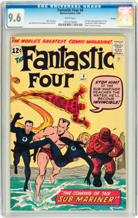 Fantastic Four #4 Curator pedigree (Marvel, 1962) CGC NM+ 9.6 White pages