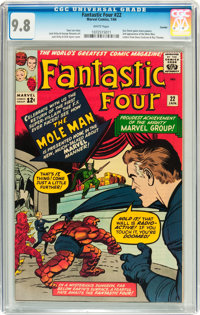 Fantastic Four #22 Curator pedigree (Marvel, 1964) CGC NM/MT 9.8 White pages
