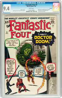 Fantastic Four #5 Curator pedigree (Marvel, 1962) CGC NM 9.4 White pages