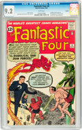 Silver Age (1956-1969):Superhero, Fantastic Four #6 Curator pedigree (Marvel, 1962) CGC NM- 9.2 Whitepages....
