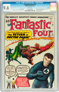 Silver Age (1956-1969):Superhero, Fantastic Four #10 Curator pedigree (Marvel, 1963) CGC NM+ 9.6White pages....