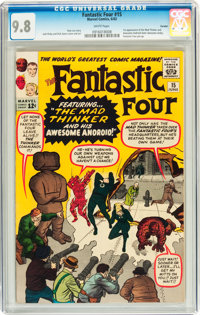 Fantastic Four #15 Curator pedigree (Marvel, 1963) CGC NM/MT 9.8 White pages