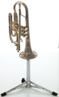 Musical Instruments:Horns & Wind Instruments, Circa 1960's Getzen Eterna Silver Cornet, Serial #B824....