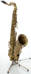Musical Instruments:Horns & Wind Instruments, Circa 1948 Conn Naked Lady Brass Tenor Saxophone, Serial #323184....