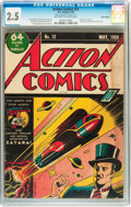 Golden Age (1938-1955):Superhero, Action Comics #12 Billy Wright pedigree (DC, 1939) CGC GD+ 2.5 Off-white to white pages....