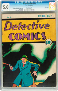 Detective Comics #6 Billy Wright pedigree (DC, 1937) CGC VG/FN 5.0 Off-white pages