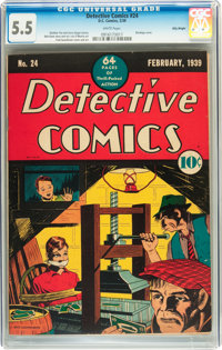 Detective Comics #24 Billy Wright pedigree (DC, 1939) CGC FN- 5.5 White pages