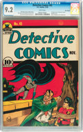 Golden Age (1938-1955):Superhero, Detective Comics #45 Billy Wright pedigree (DC, 1940) CGC NM- 9.2 White pages....