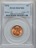 Lincoln Cents: , 1976 1C MS67 Red PCGS. PCGS Population (131/2). NGC Census:(116/0). Numismedia Wsl. Price for problem free NGC/PCGS coin ...