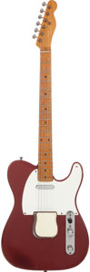 Musical Instruments:Electric Guitars, 1955 Fender Telecaster Refinished Red Solid Body Electric Guitar,Serial # 7278. ...