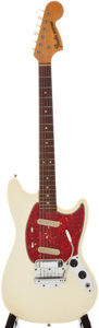 Musical Instruments:Electric Guitars, 1966 Fender Mustang White Solid Body Electric Guitar, Serial#174923....