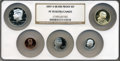 Proof Sets, 2007-S Silver Proof Set PR70 Ultra Cameo NGC. This set includes: Sacagawea Dollar, Kennedy Half Dollar, Roosevelt Dime, Mont... (Total: 5 coins)